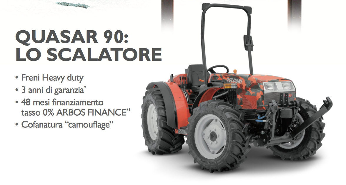 Un nuovo trattore cogli la super promozione goldoni for Quasar 90 usato